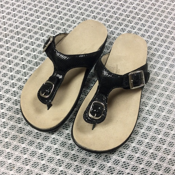 SAS Shoes - SAS Black Sandals 4 1/2